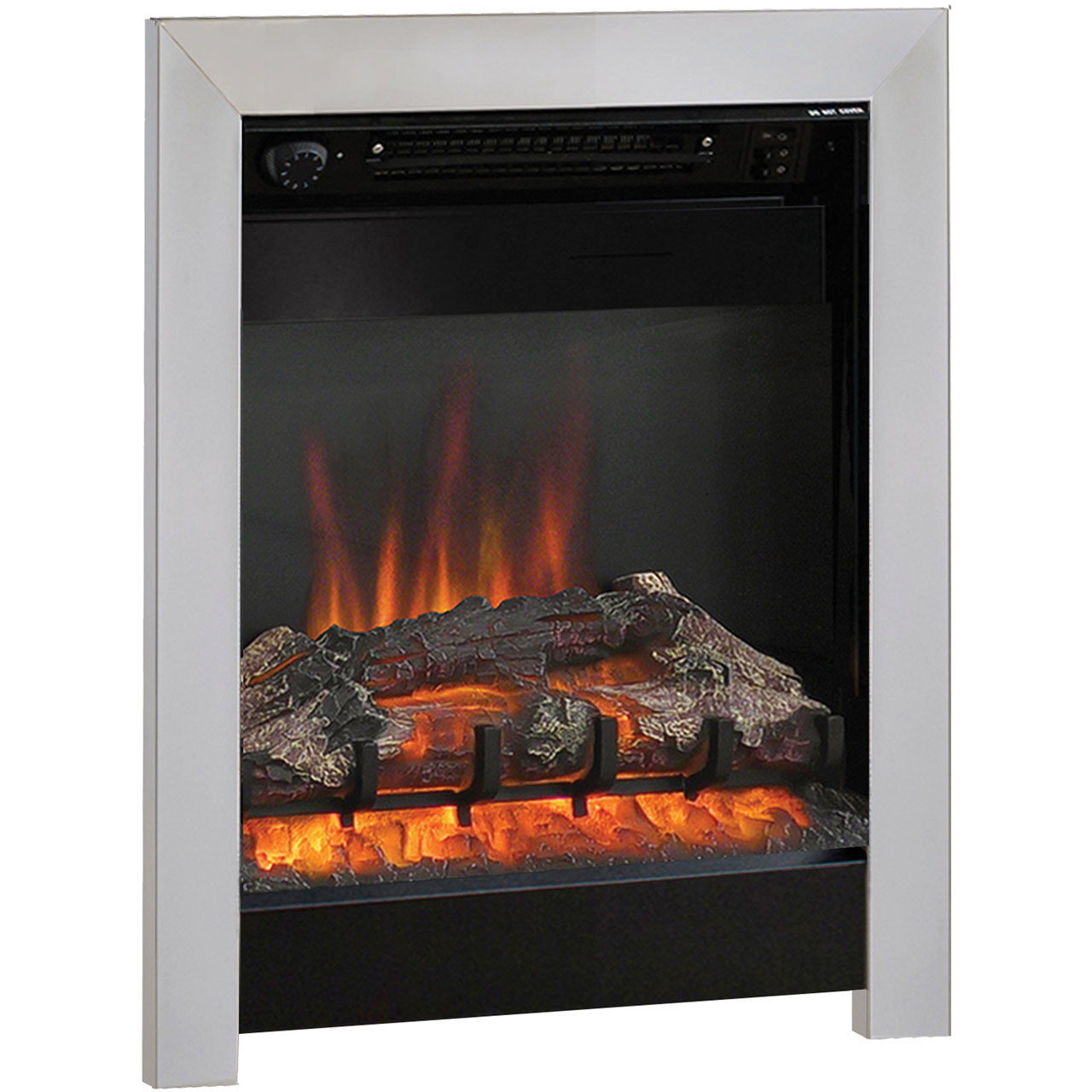 Details About Bemodern 133701 Athena Log Effect Electric Fire Black Chrome