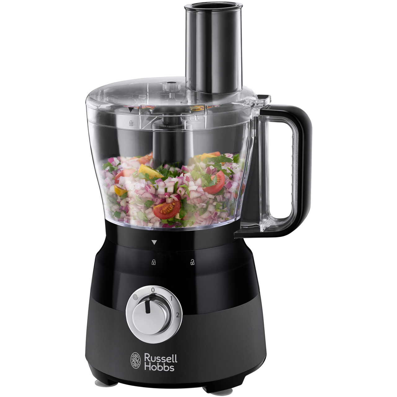 Russell Hobbs Desire 24732 1 5 Litre Food Processor With 6 Accessories -  Black