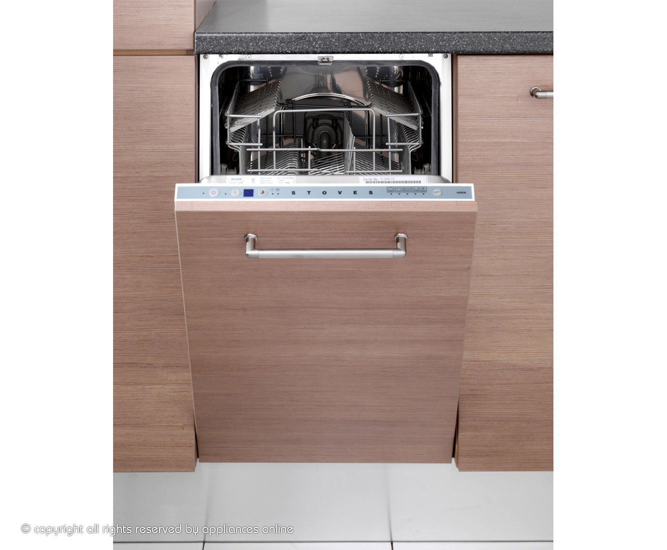 Stoves S450DW Integrated Slimline Dishwasher in White