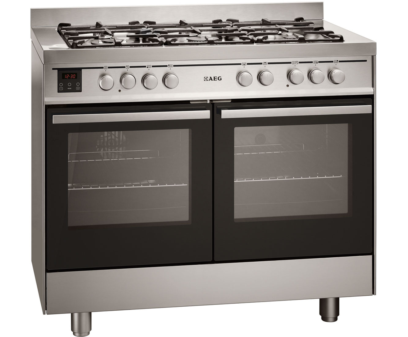 AEG Competence 49190GOMN Free Standing Range Cooker in Stainless Steel