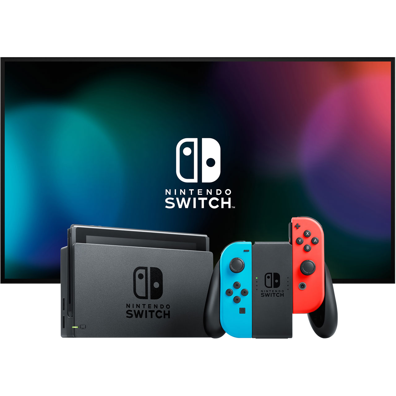 Nintendo Switch 32GB with Mario Kart 8 Deluxe - Neon Red/Blue