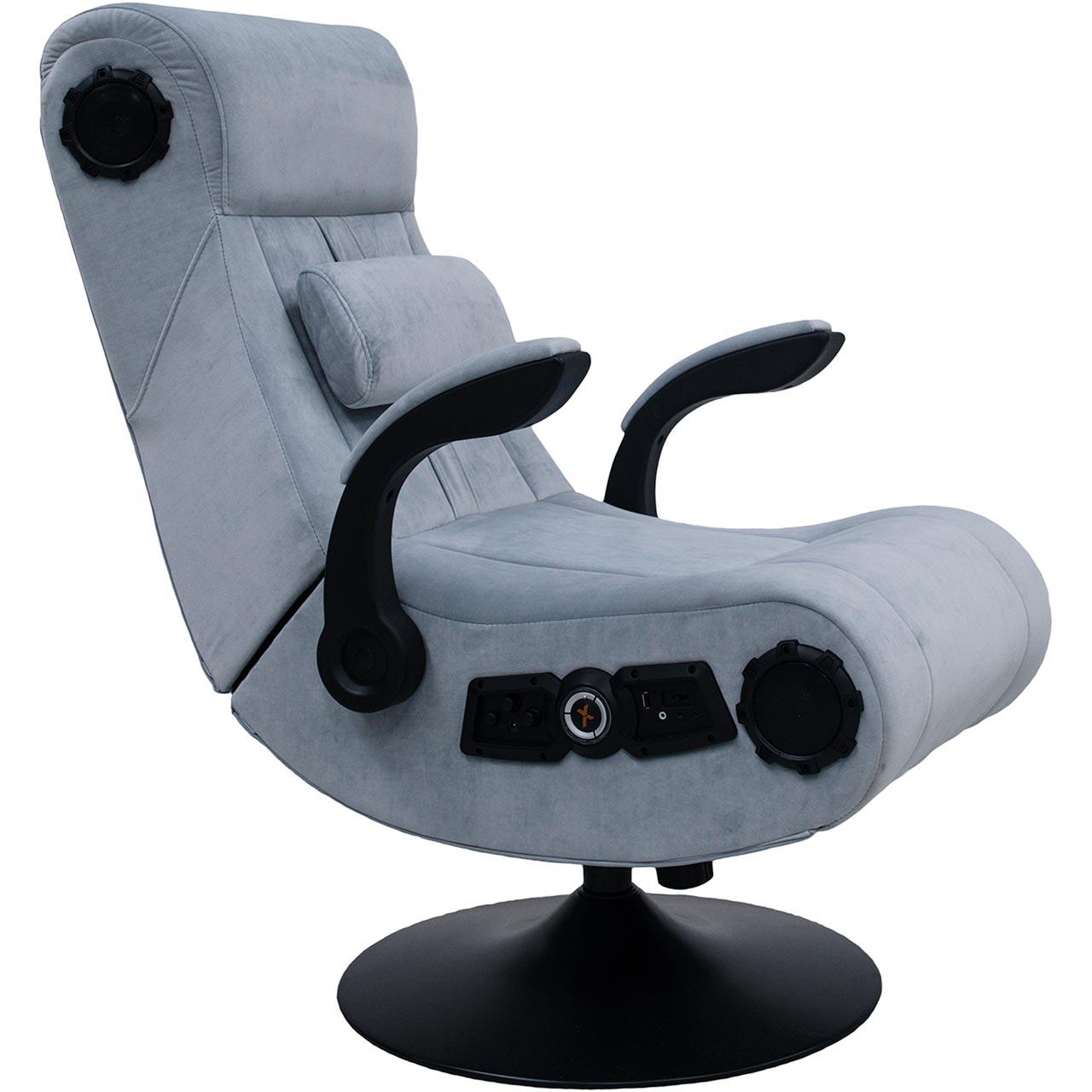 Admirable X Rocker Wireless Deluxe Gaming Chair Grey Uwap Interior Chair Design Uwaporg