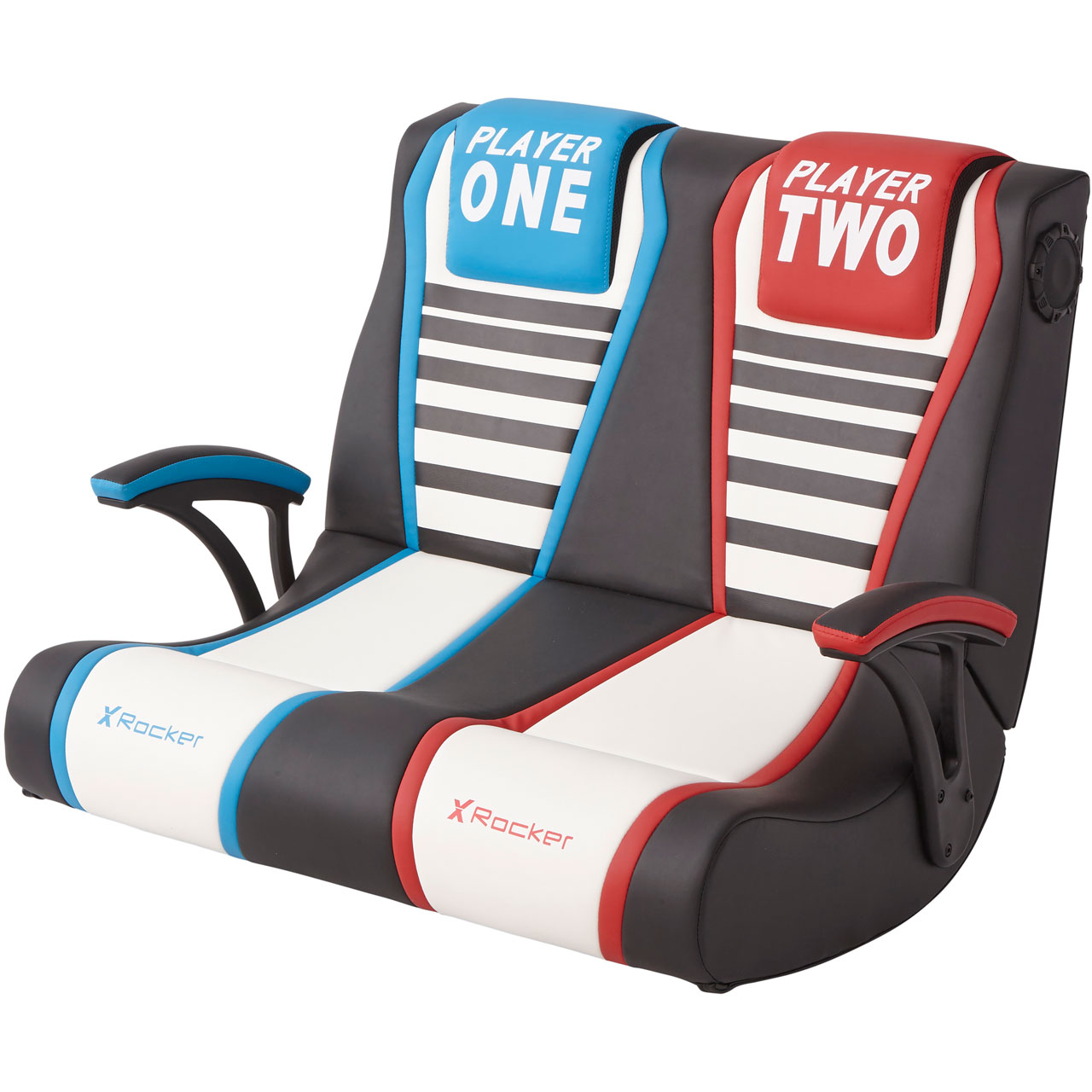 Amazing X Rocker Dual Rivals 2 1 Double Wide Gaming Chair Black White Machost Co Dining Chair Design Ideas Machostcouk