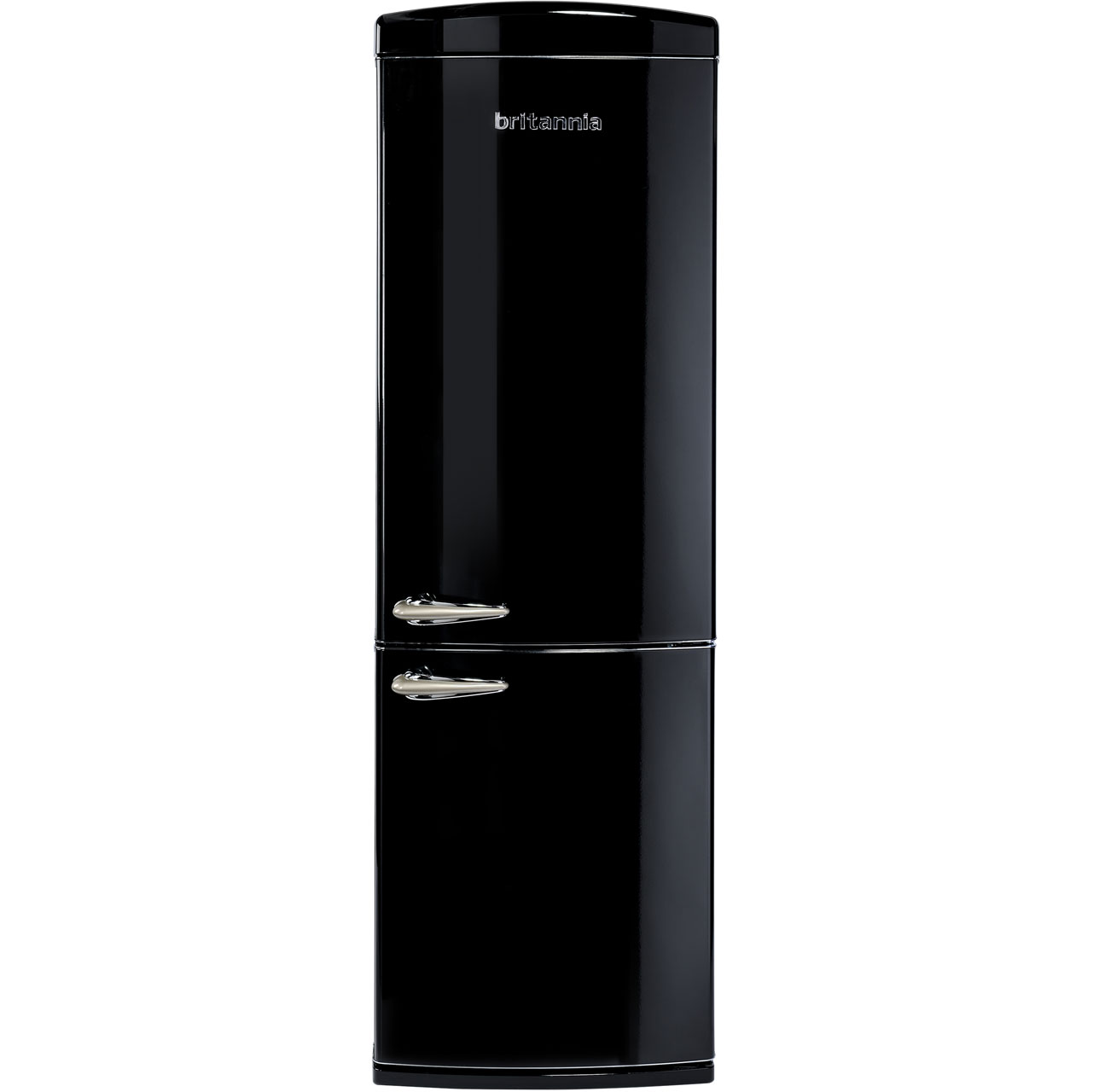 Britannia Breeze Retro 544446212 Free Standing Fridge Freezer Frost Free in Black