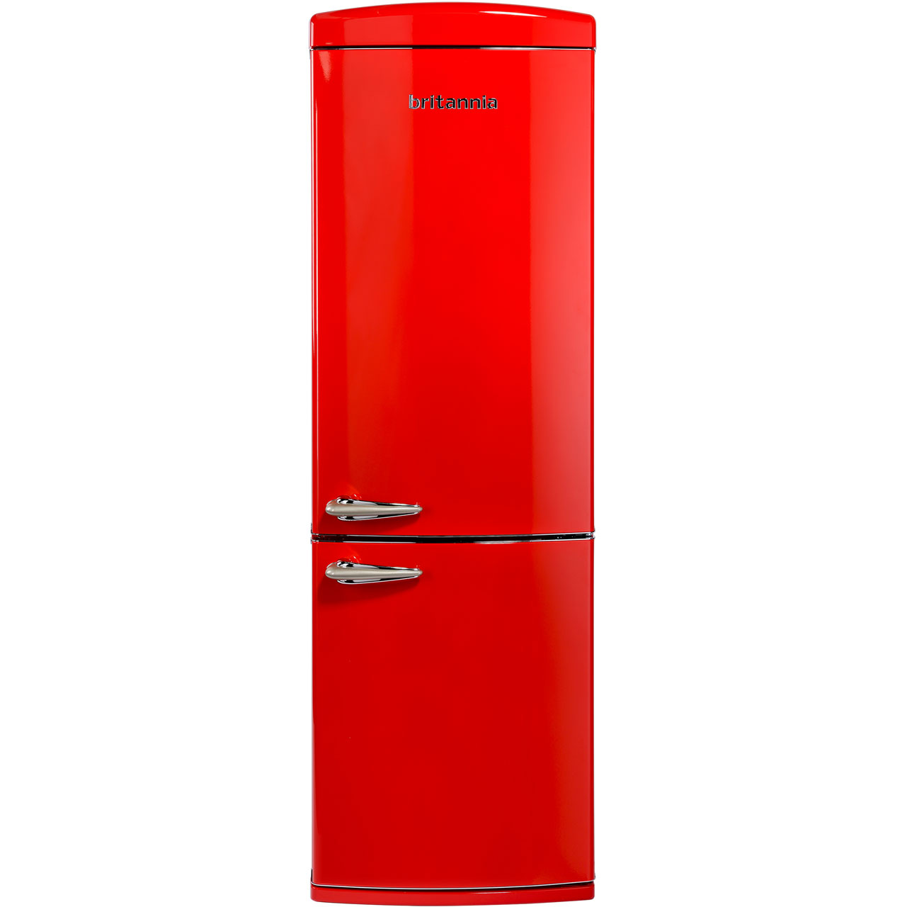 Britannia Breeze Retro 544446250 Free Standing Fridge Freezer Frost Free in Red