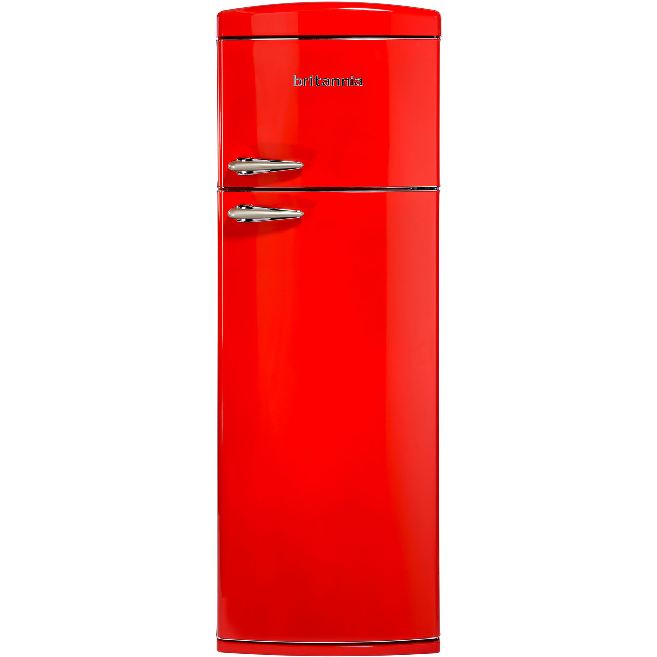 Britannia Breeze Retro 544446251 Free Standing Fridge Freezer in Red