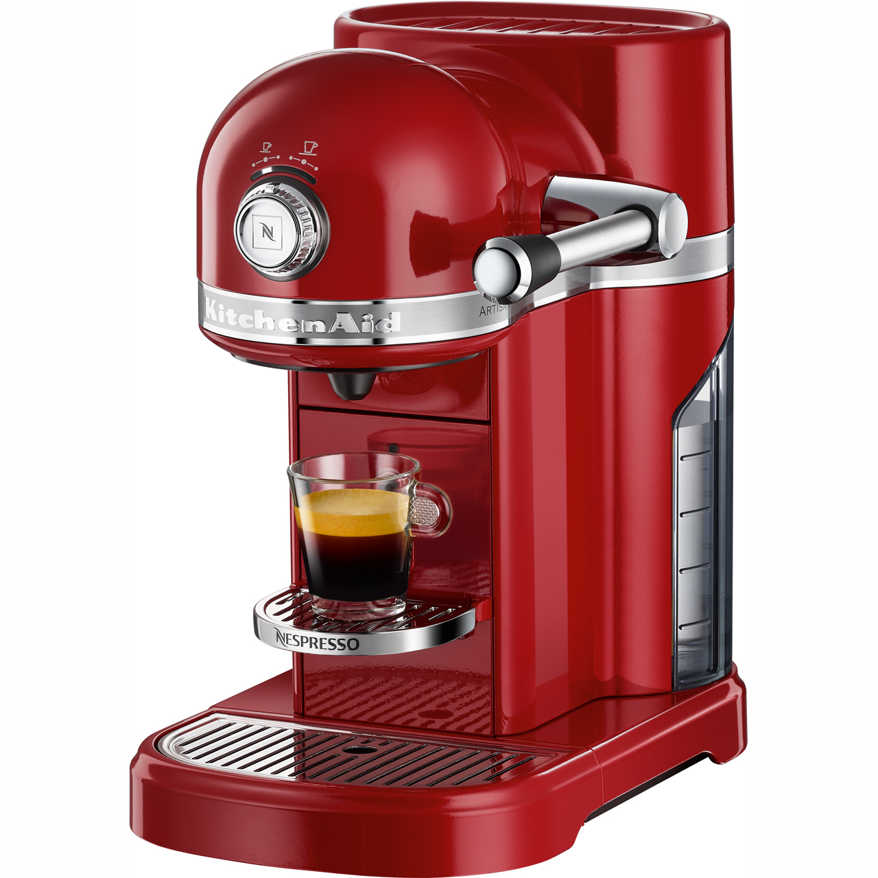 Details About Nespresso By Kitchenaid 5kes0503ber Artisan Pod Coffee Machine 1160 Watt Red