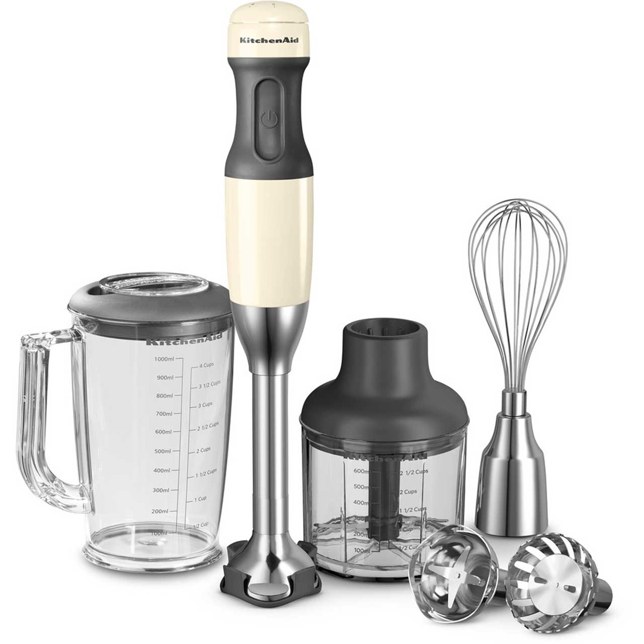 Kitchenaid 5 Speed 5khb2571bac Hand Blender With 5 Accessories Almond Cream