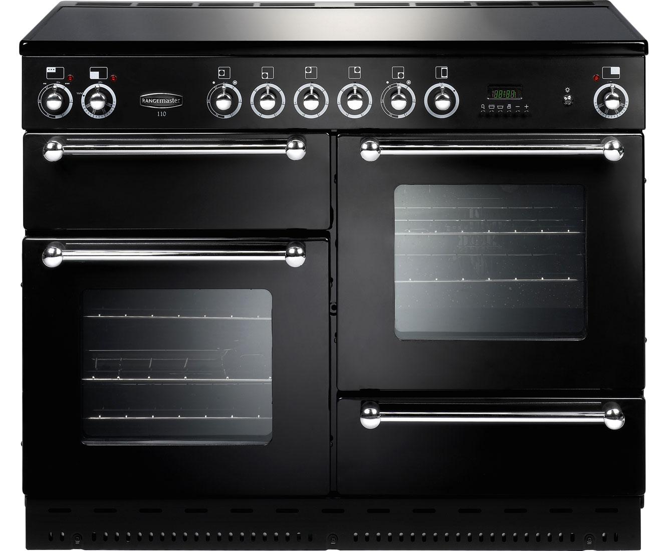 Rangemaster RMS110ECBLPDC Free Standing Range Cooker in Black  Chrome
