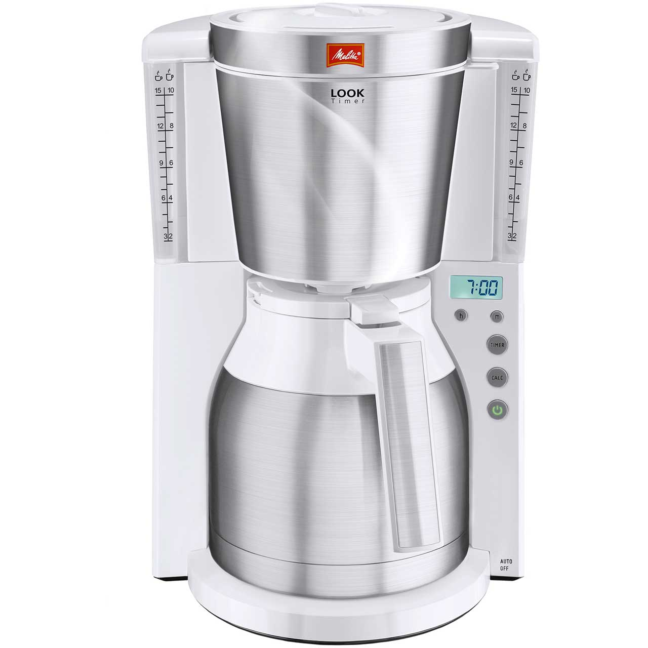 Melitta Look IV Therm Timer 6738037 Filter Coffee Machine with Timer - White