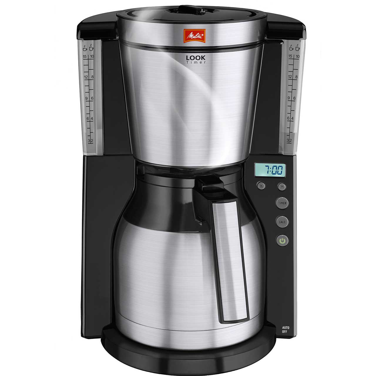 Coffee Maker Automatic Timer : Melitta Look IV Therm Timer 6738044 Filter Coffee Machine with Timer - Black ao.com
