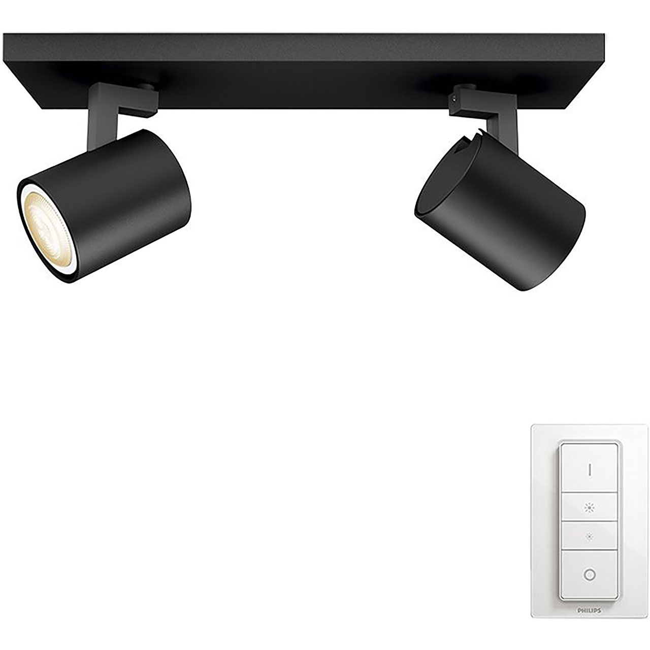 915005403101 philips hue double spotlight black ao aloadofball Image collections