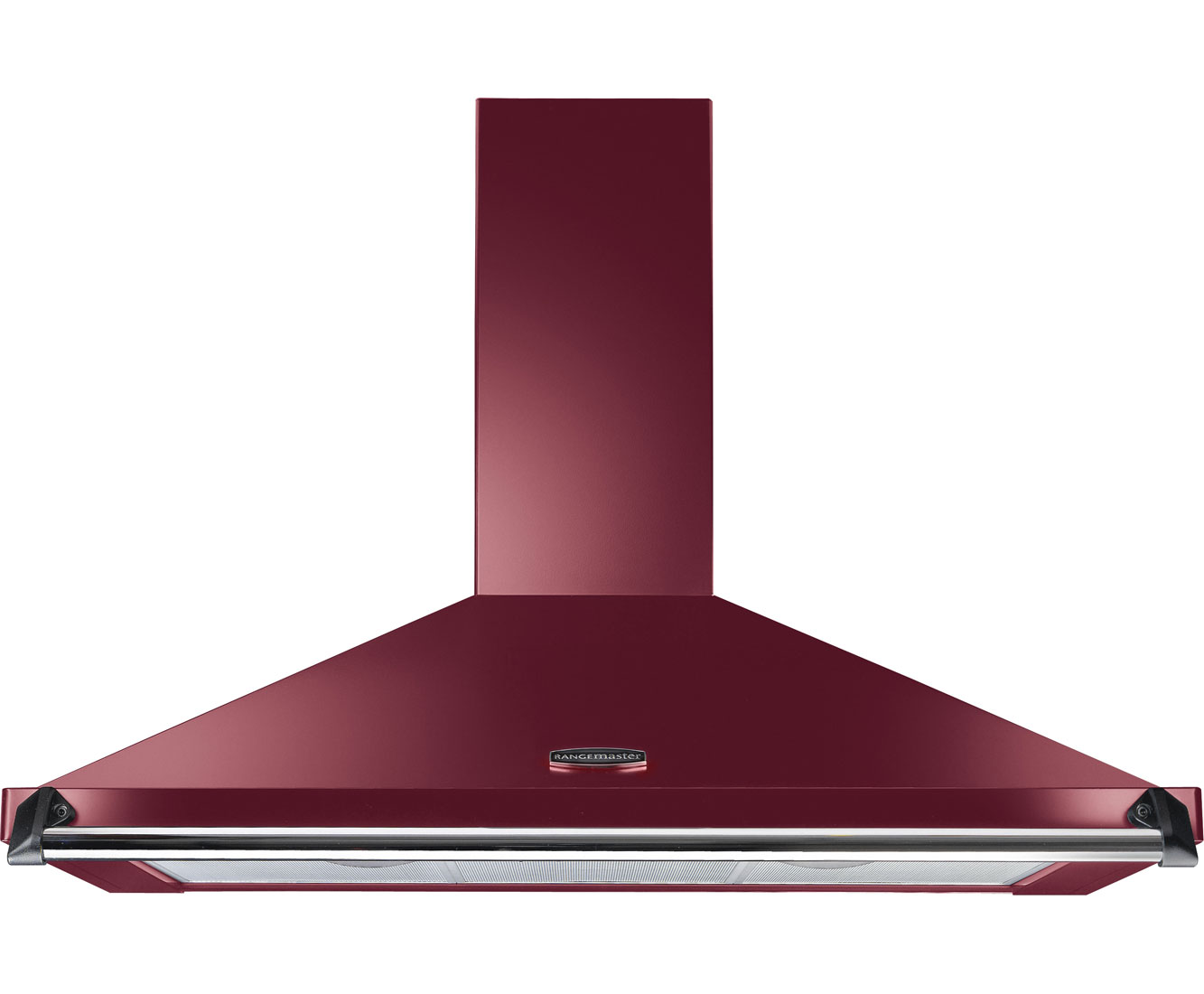Rangemaster Classic CLAHDC90CYC Integrated Cooker Hood in Cranberry  Chrome