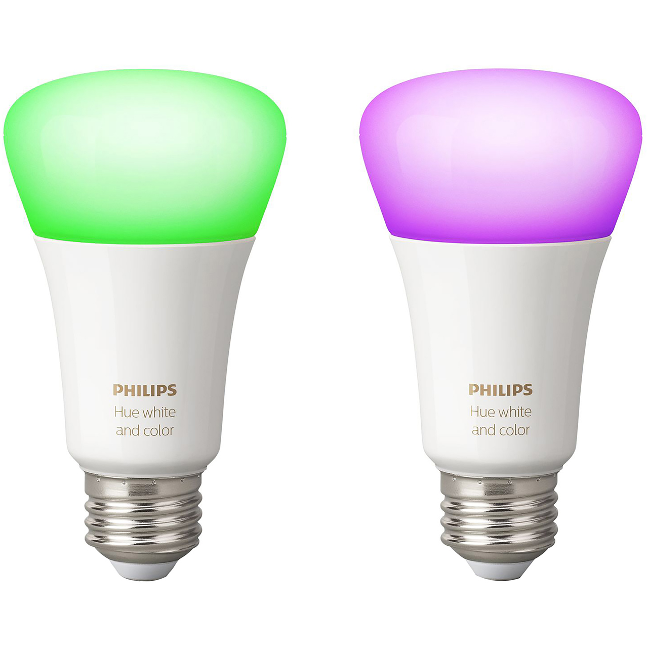 Philips Hue White and Colour Ambiance E27 Twin Pack - A+ Rated