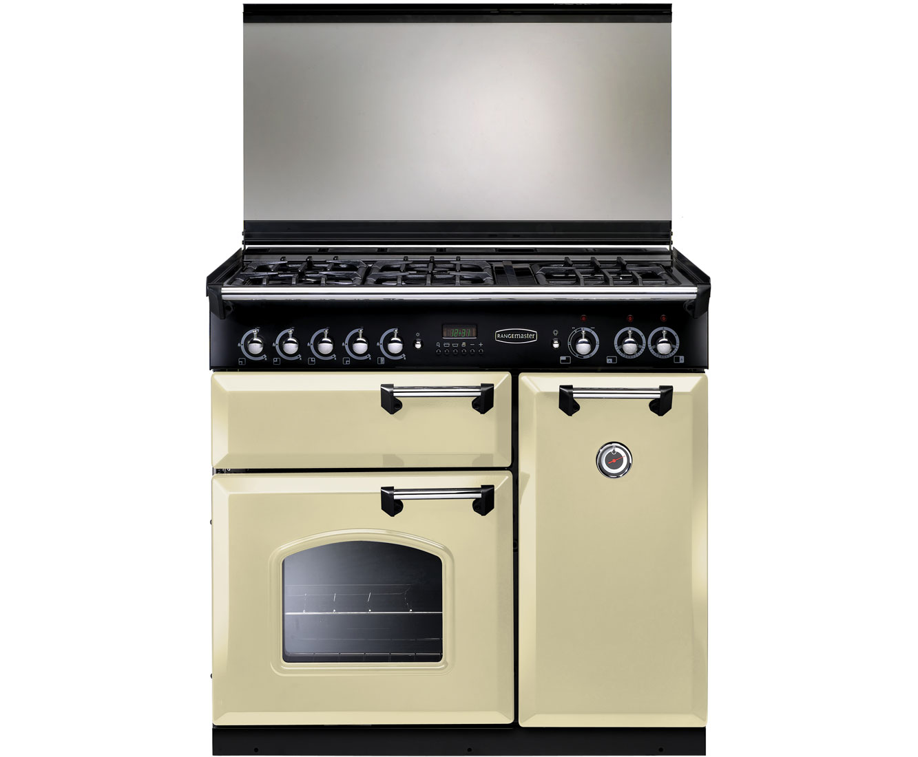 Click to view product details and reviews for Rangemaster Classic Clas90ldfcr C Free Standing Range Cooker In Cream Chrome.