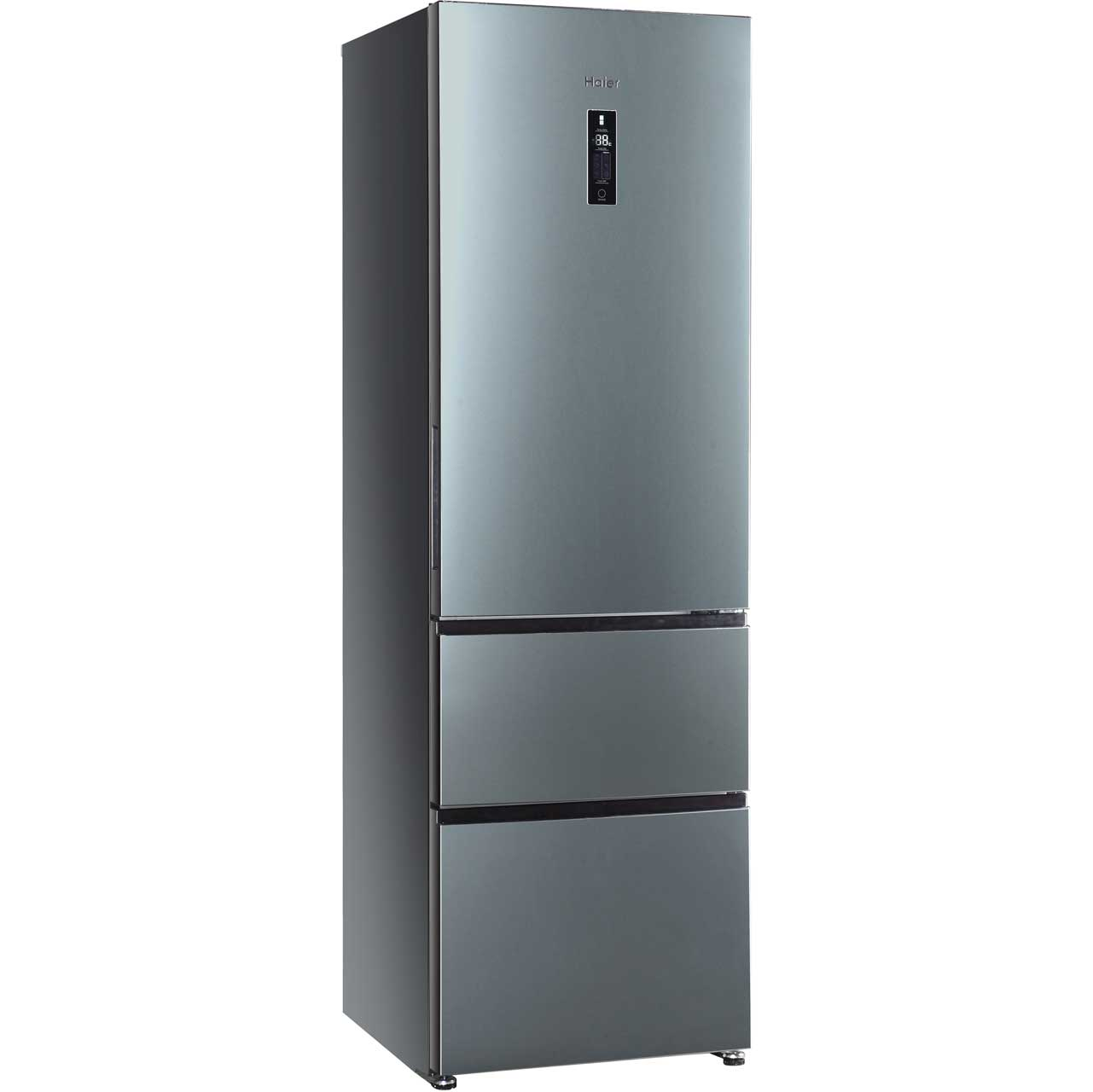 haier a2fe635cfj 60 40 frost free fridge freezer stainless steel. Black Bedroom Furniture Sets. Home Design Ideas