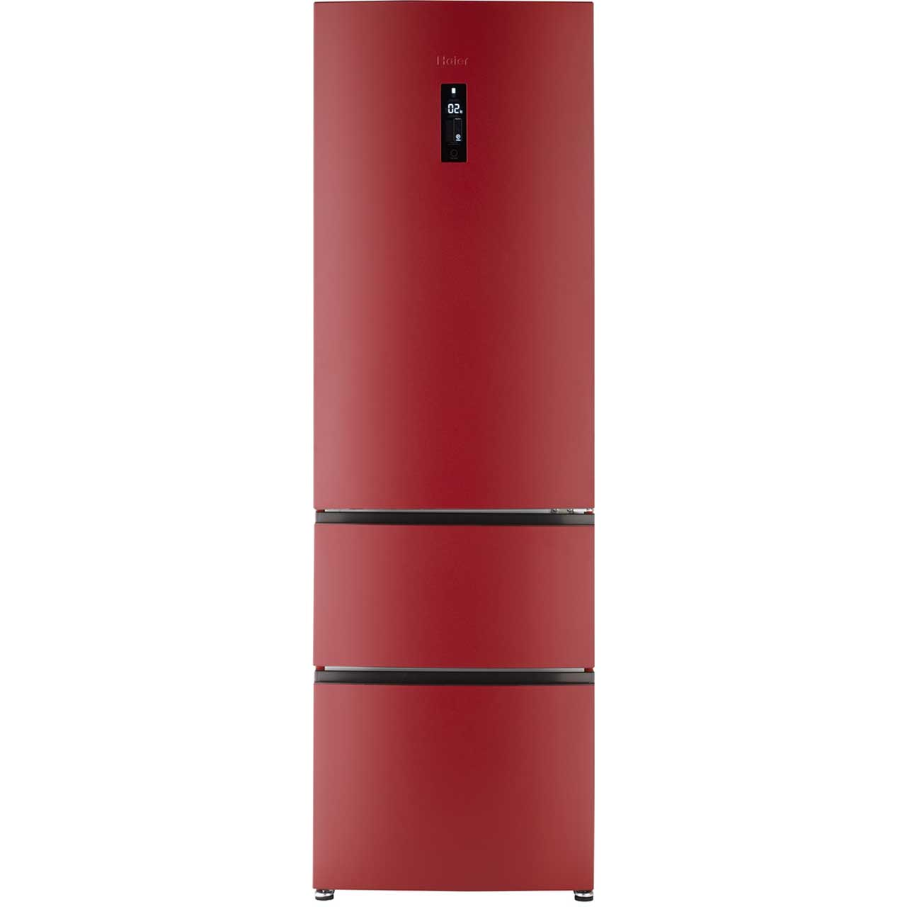 Haier A2FE635CRJ Free Standing Fridge Freezer Frost Free in Red