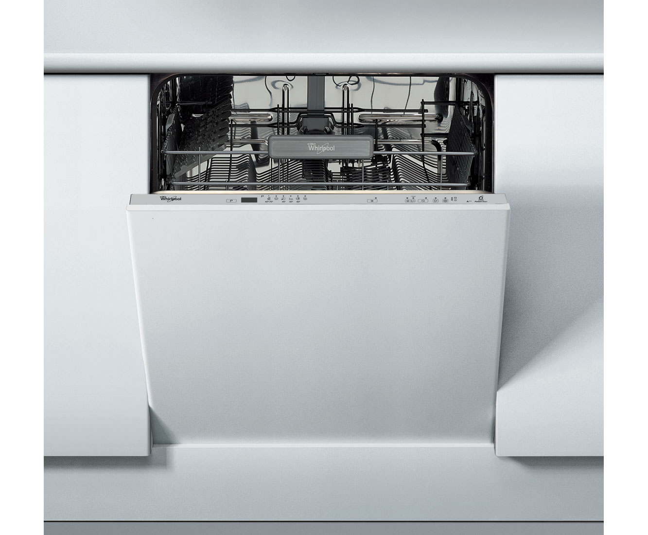Whirlpool 6th Sense PowerClean ADG5010 Fully Integrated Standard Dishwasher - Silver