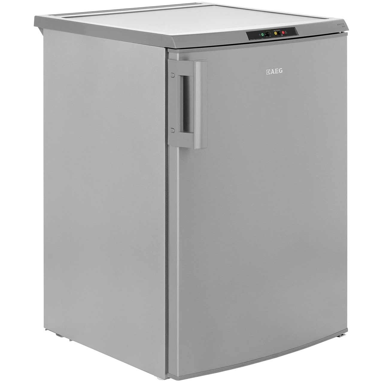 AEG A71101TSX0 92L 85x60cm Under Counter Freestanding Freezer - Silver With Antifingerprint Stainless Steel Door