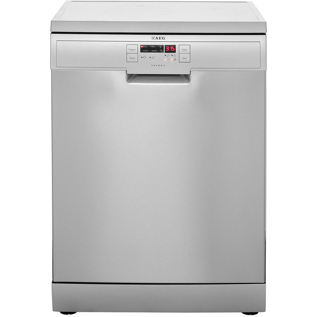 AEG Favorit F56305M0 Free Standing Dishwasher in Stainless Steel