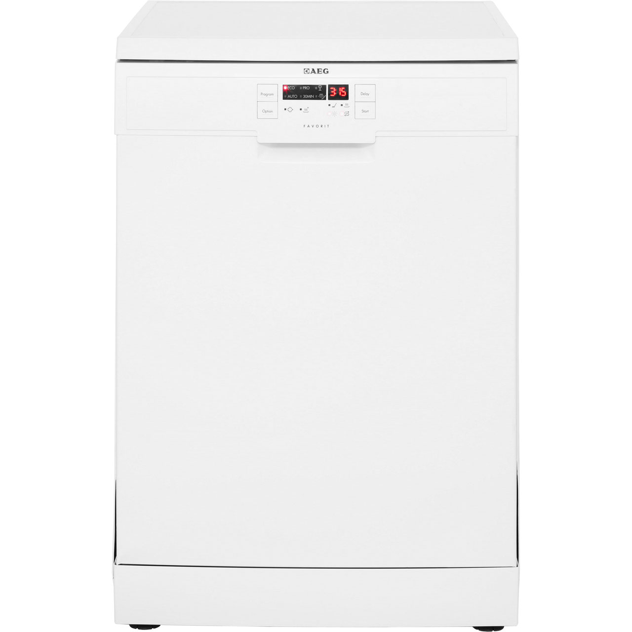 AEG Favorit F56305W0 Free Standing Dishwasher in White