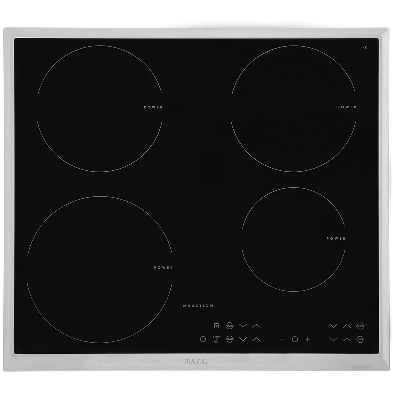 AEG HK634200XB Integrated Electric Hob in Black