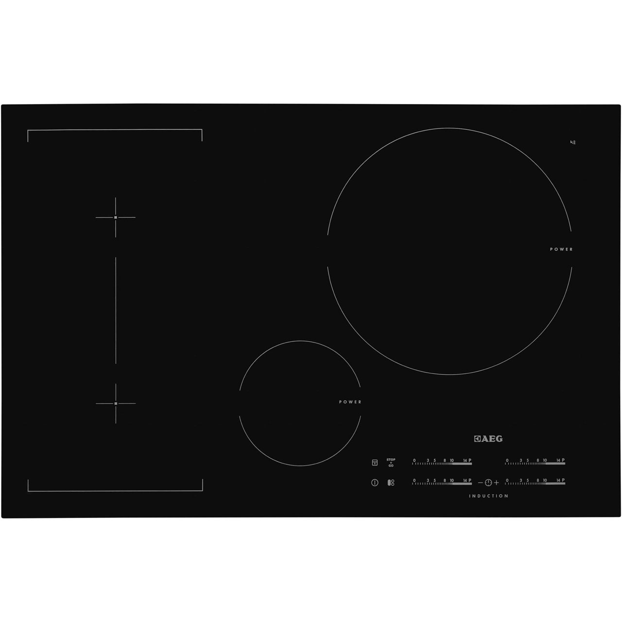 AEG Competence HK854320FB Integrated Electric Hob in Black