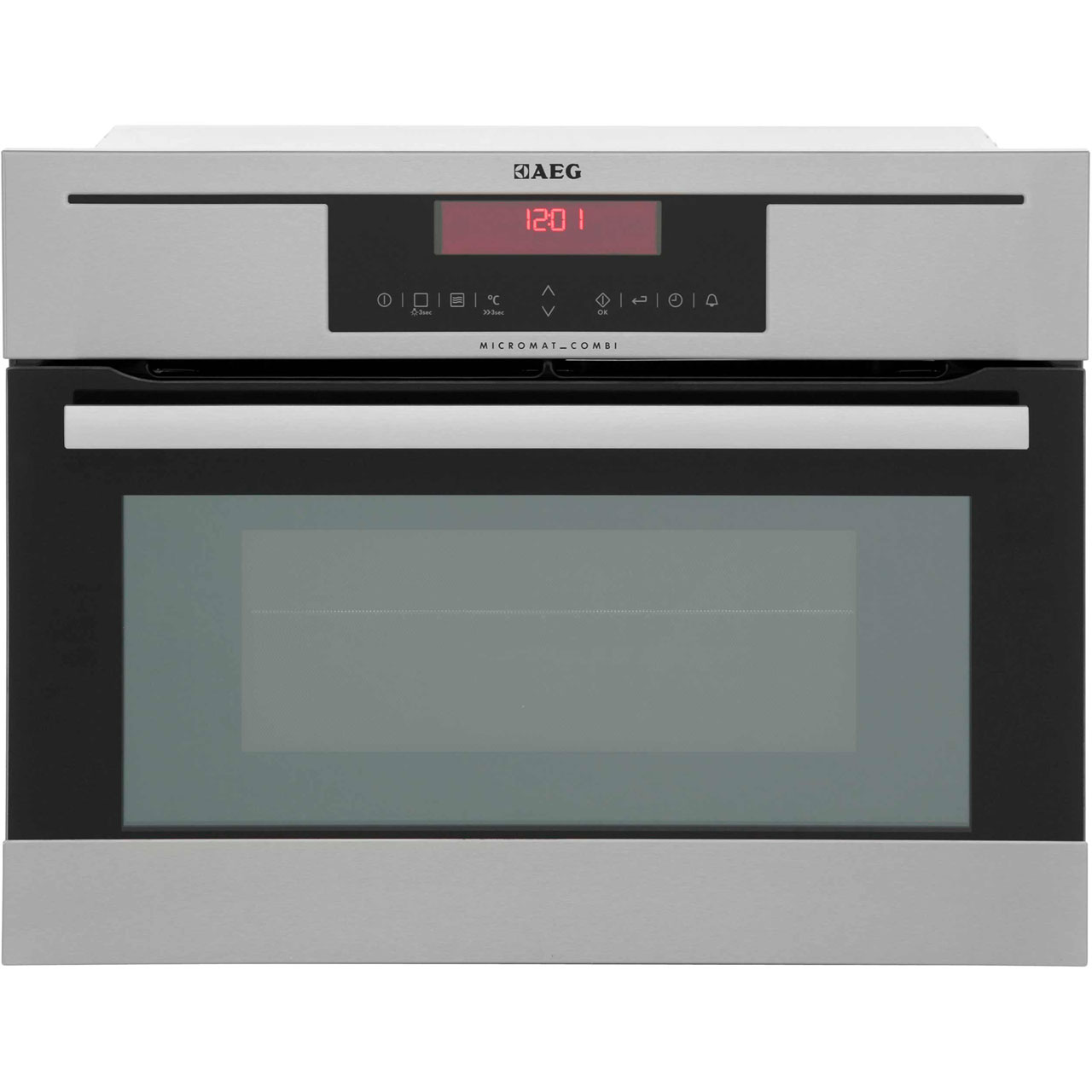 AEG Competence KM8403021M Integrated Microwave Oven in Stainless Steel