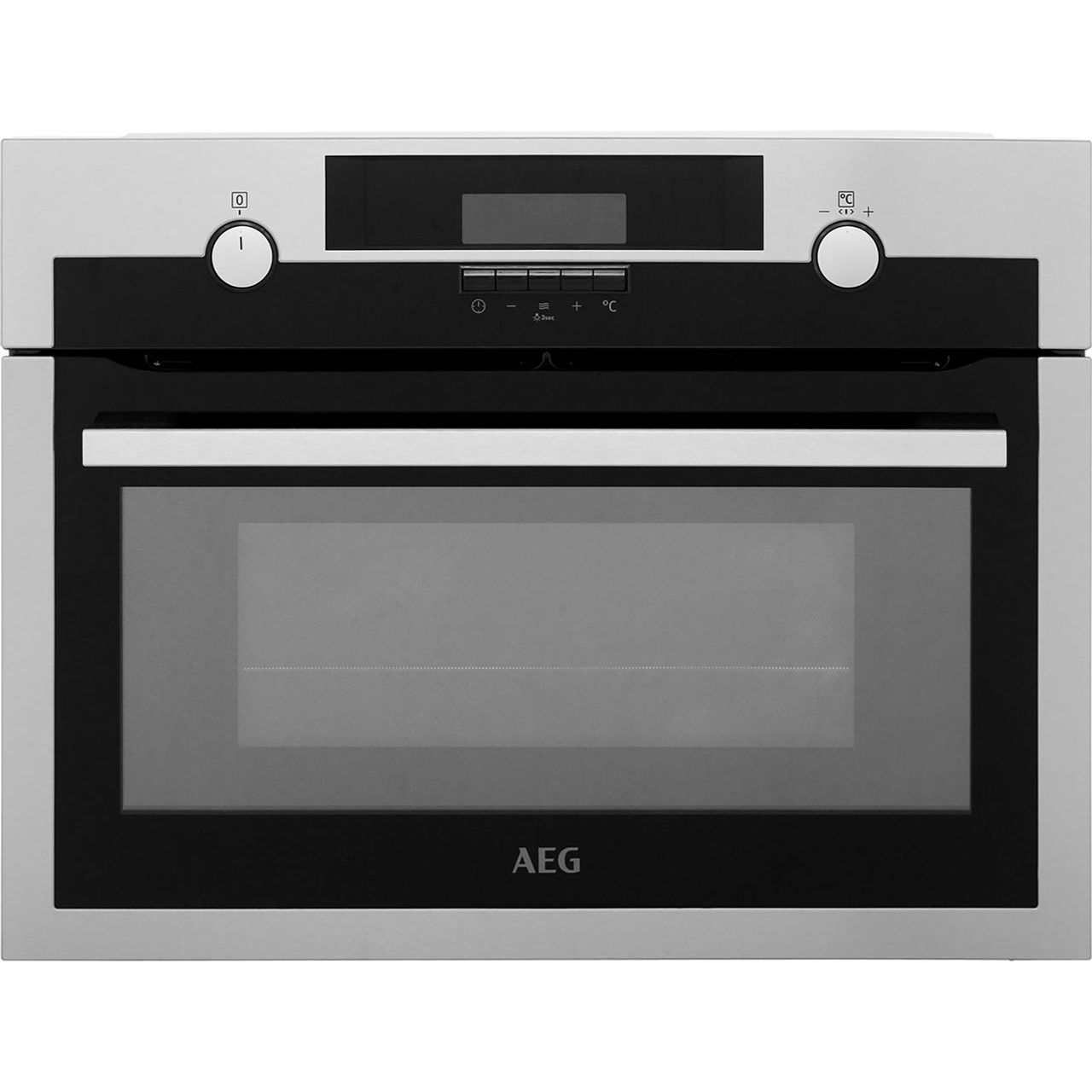 Aeg Kme561000m Built In Compact Electric Single Oven With Microwave Function Stainless Steel Ss