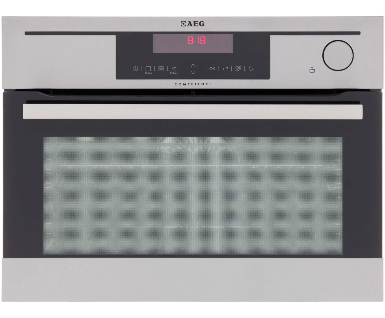 AEG Competence KS8404021M Built In Electric Single Oven with added Steam Function - Stainless Steel
