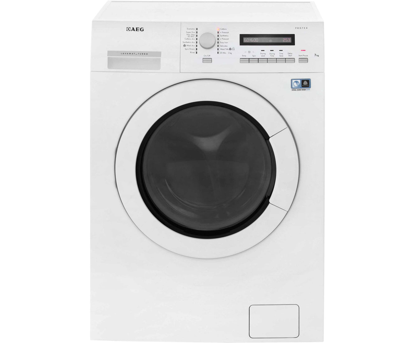 AEG Lavamat Turbo L75670WD 7Kg / 4Kg Washer Dryer with 1600 rpm - White