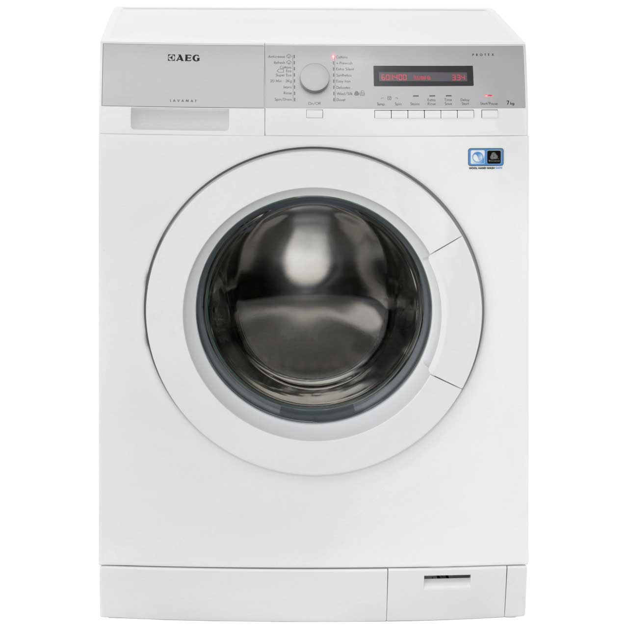 aeg lavamat l76475fl free standing washing machine in white. Black Bedroom Furniture Sets. Home Design Ideas