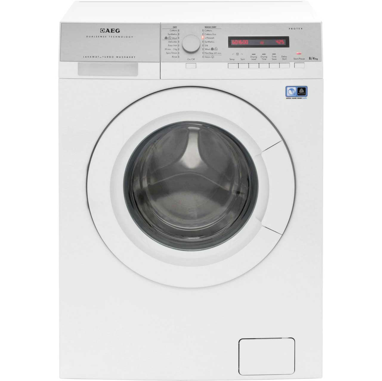 AEG Lavamat Turbo L76684NWD Free Standing Washer Dryer in White