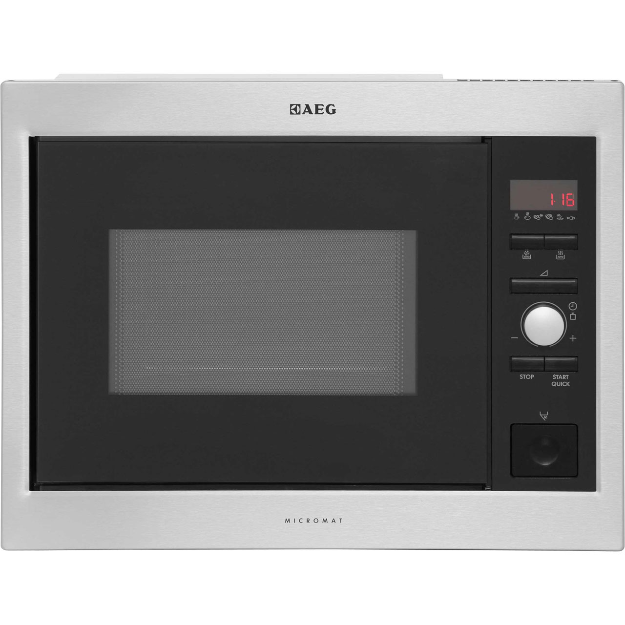 AEG MC1753EM Integrated Microwave Oven in Stainless Steel  Black