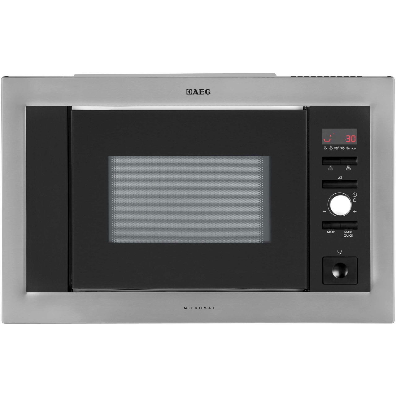 AEG MC1763EM Integrated Microwave Oven in Stainless Steel  Black