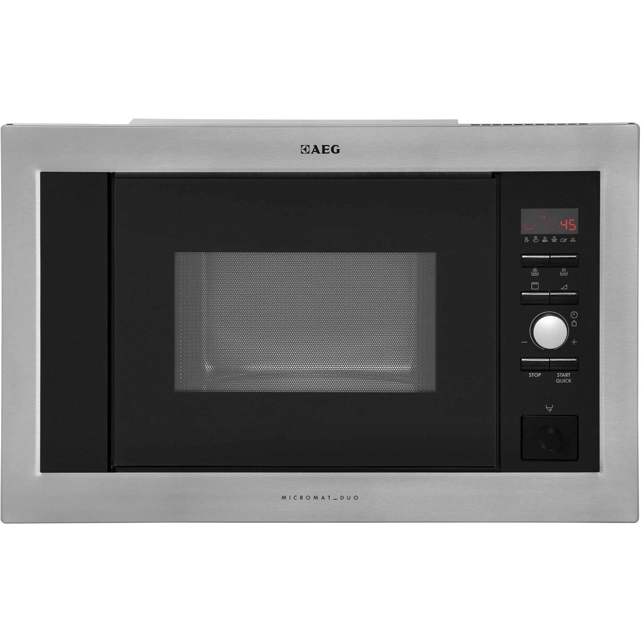 AEG MCD1763EM Integrated Microwave Oven in Stainless Steel