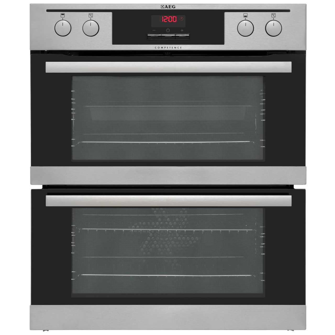 AEG Competence NC4013021M Built Under Double Oven in Stainless Steel