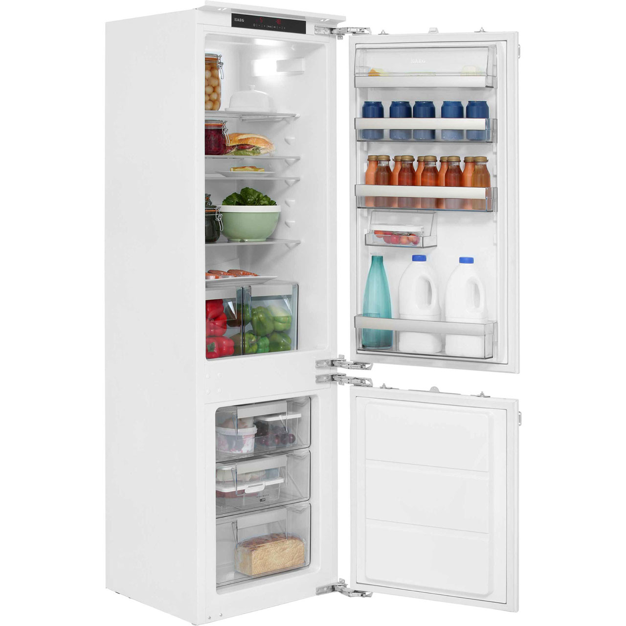 AEG Santo SCS71801F1 Integrated Fridge Freezer in White