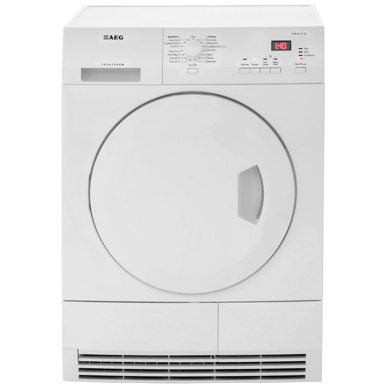 AEG Lavatherm T61270AC Free Standing Condenser Tumble Dryer in White
