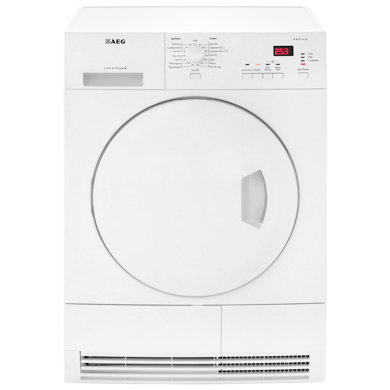 AEG Lavatherm T65370AH3 Free Standing Condenser Tumble Dryer in White