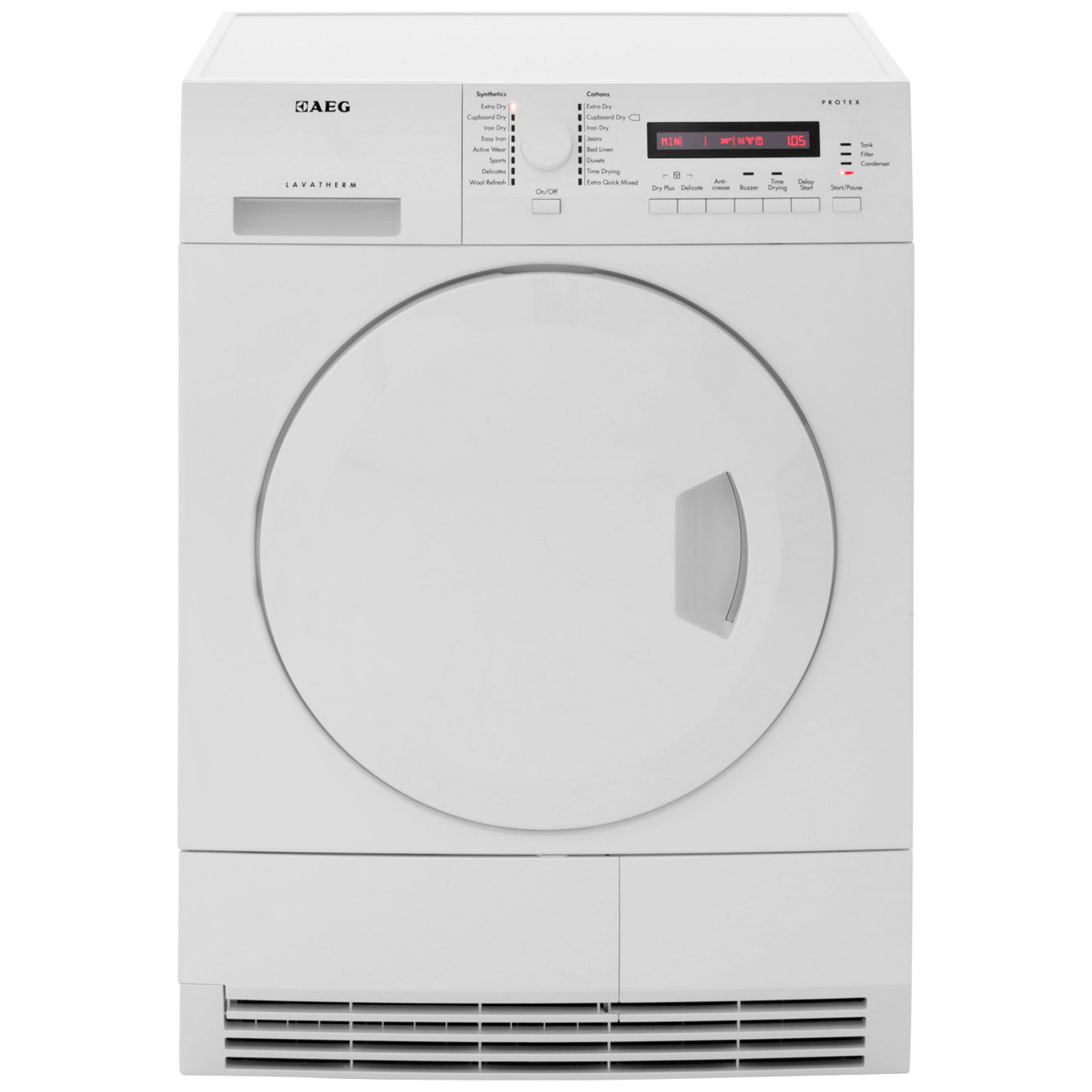 AEG Lavatherm T75280AC Free Standing Condenser Tumble Dryer in White