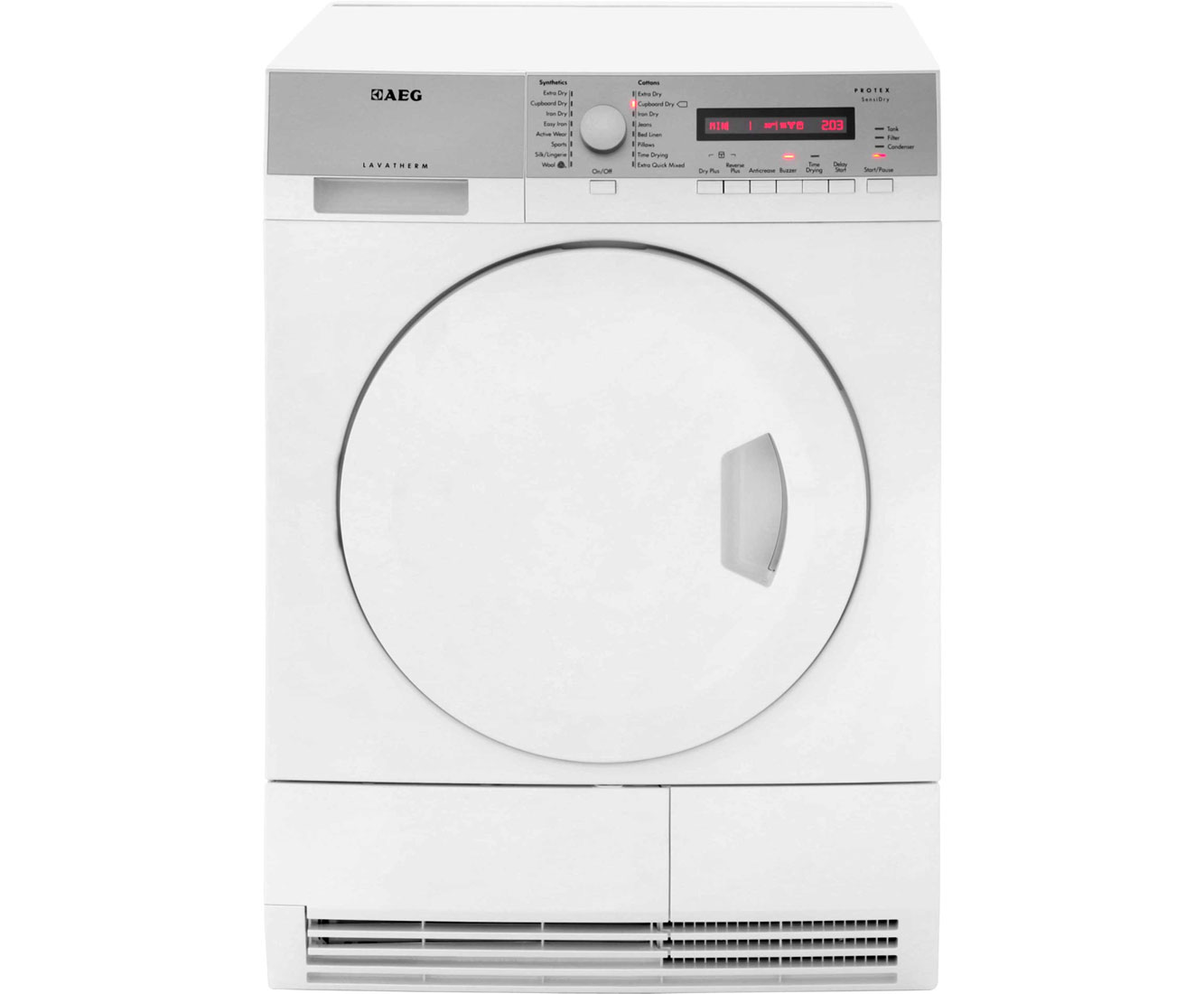 AEG Lavatherm T75380AH2 Free Standing Condenser Tumble Dryer in White