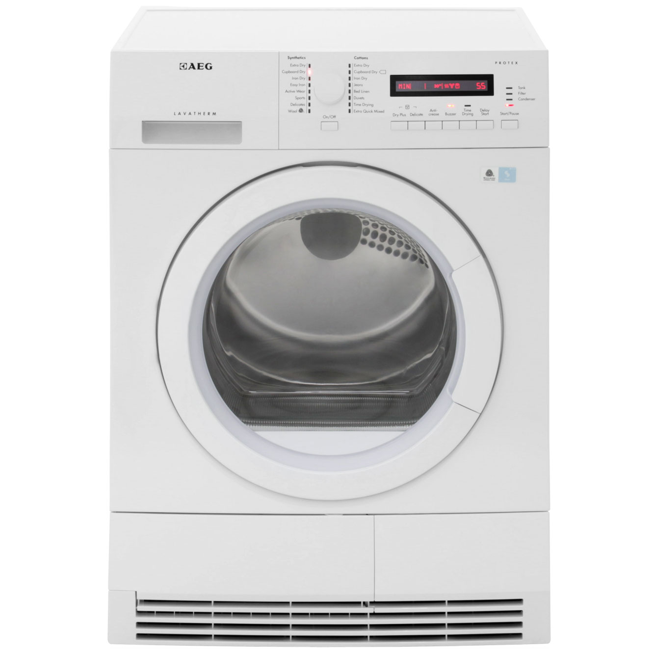 AEG Lavatherm T76280AC Free Standing Condenser Tumble Dryer in White