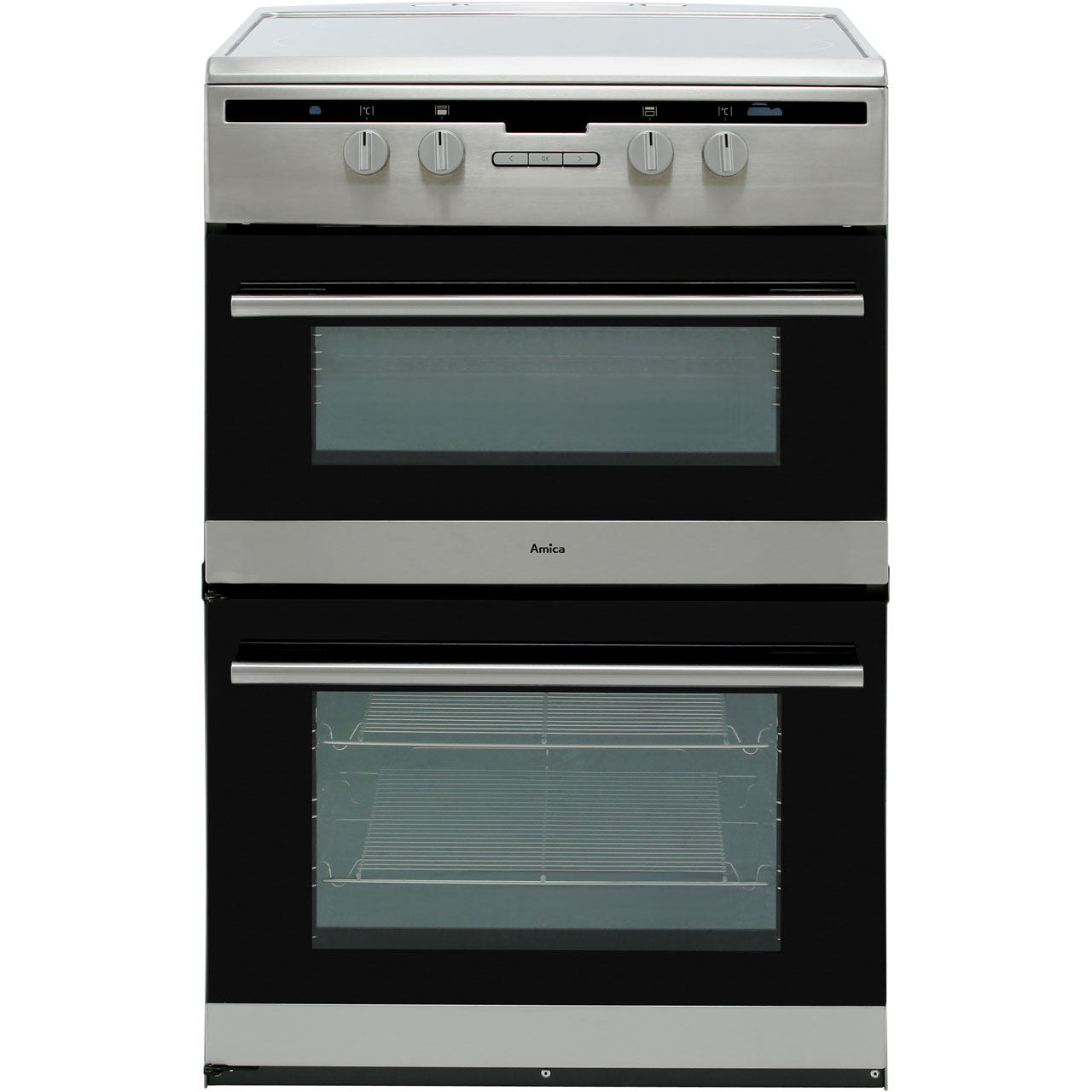 Amica AFN6550SS 60cm Electric Cooker with Induction Hob - Stainless on