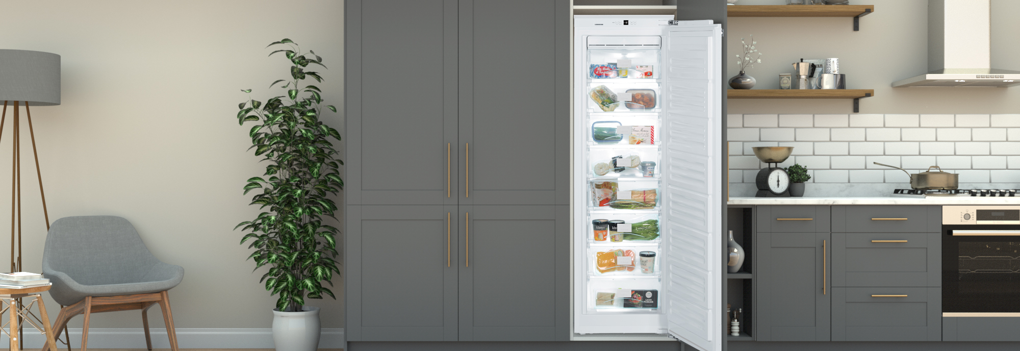 Liebherr SIGN3524 Integrated Frost Free Upright Freezer with Fixed Door  Fixing Kit - A++ Rated