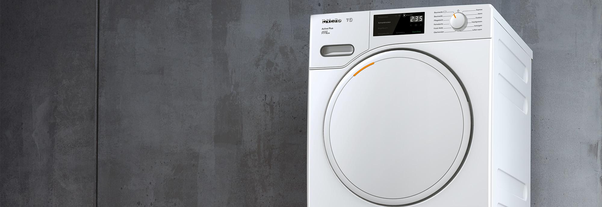Miele T1 Active Plus TWE520WP 8Kg Heat Pump Tumble Dryer - White - A+++  Rated