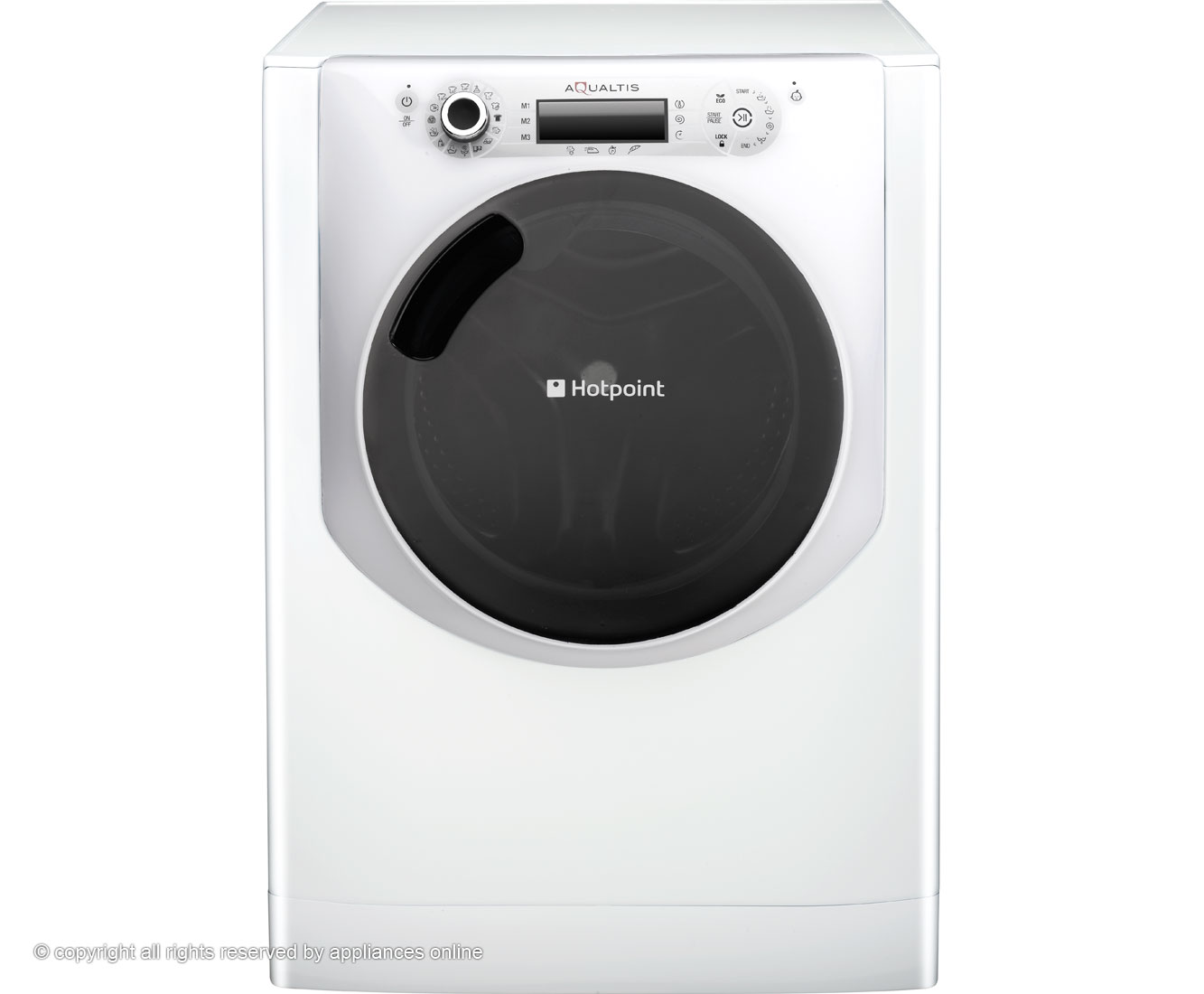 Hotpoint Aqualtis AQ113D697I 11Kg Washing Machine with 1600 rpm - White / Ice