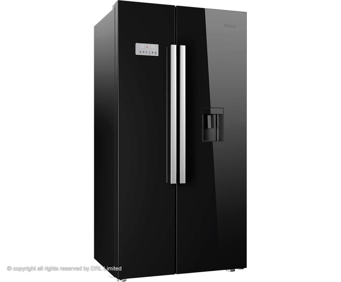 Beko ASD241B American Fridge Freezer - Black Gloss