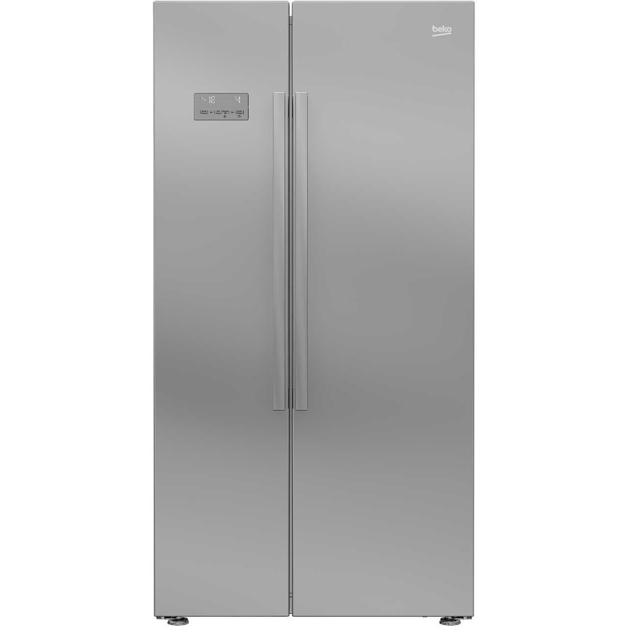 Beko ASL141 fridge freezers american  in Silver