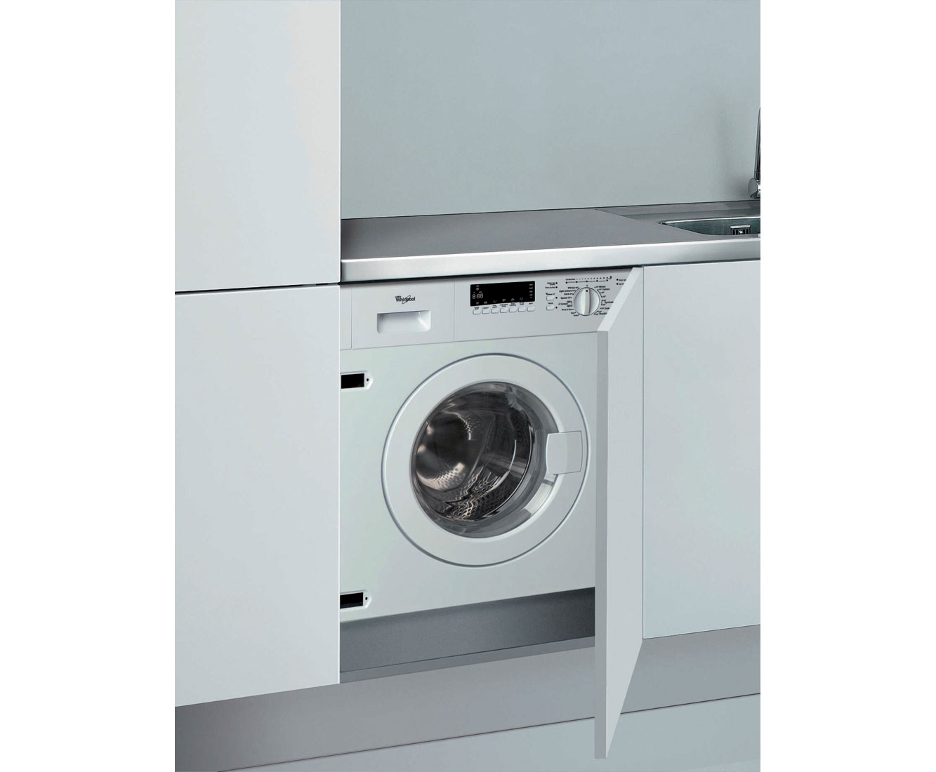 Whirlpool AWO/C7714 Integrated 7Kg Washing Machine with 1400 rpm